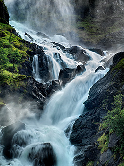 Latefosen Waterfall