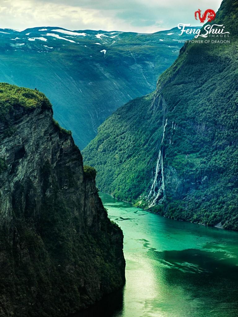 Seven Sisters Waterfall Gerjanger Fjord Norway