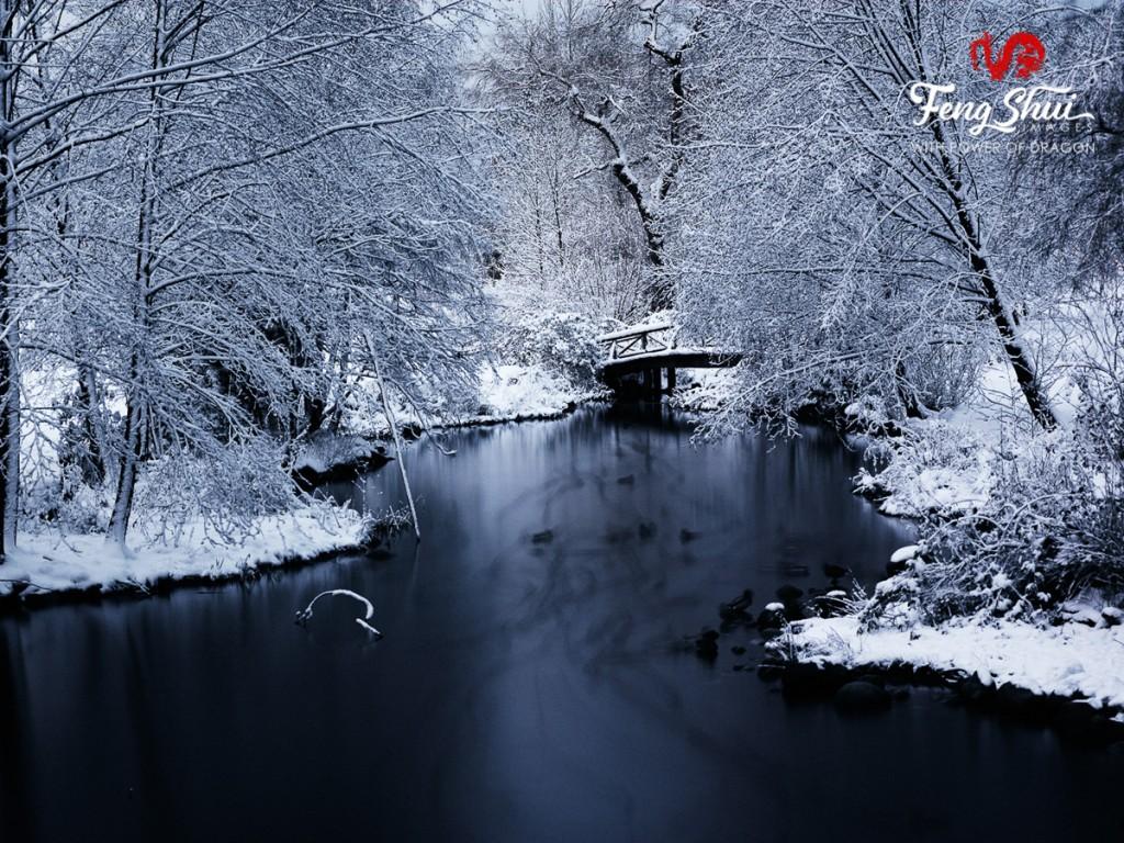 A winter lake
